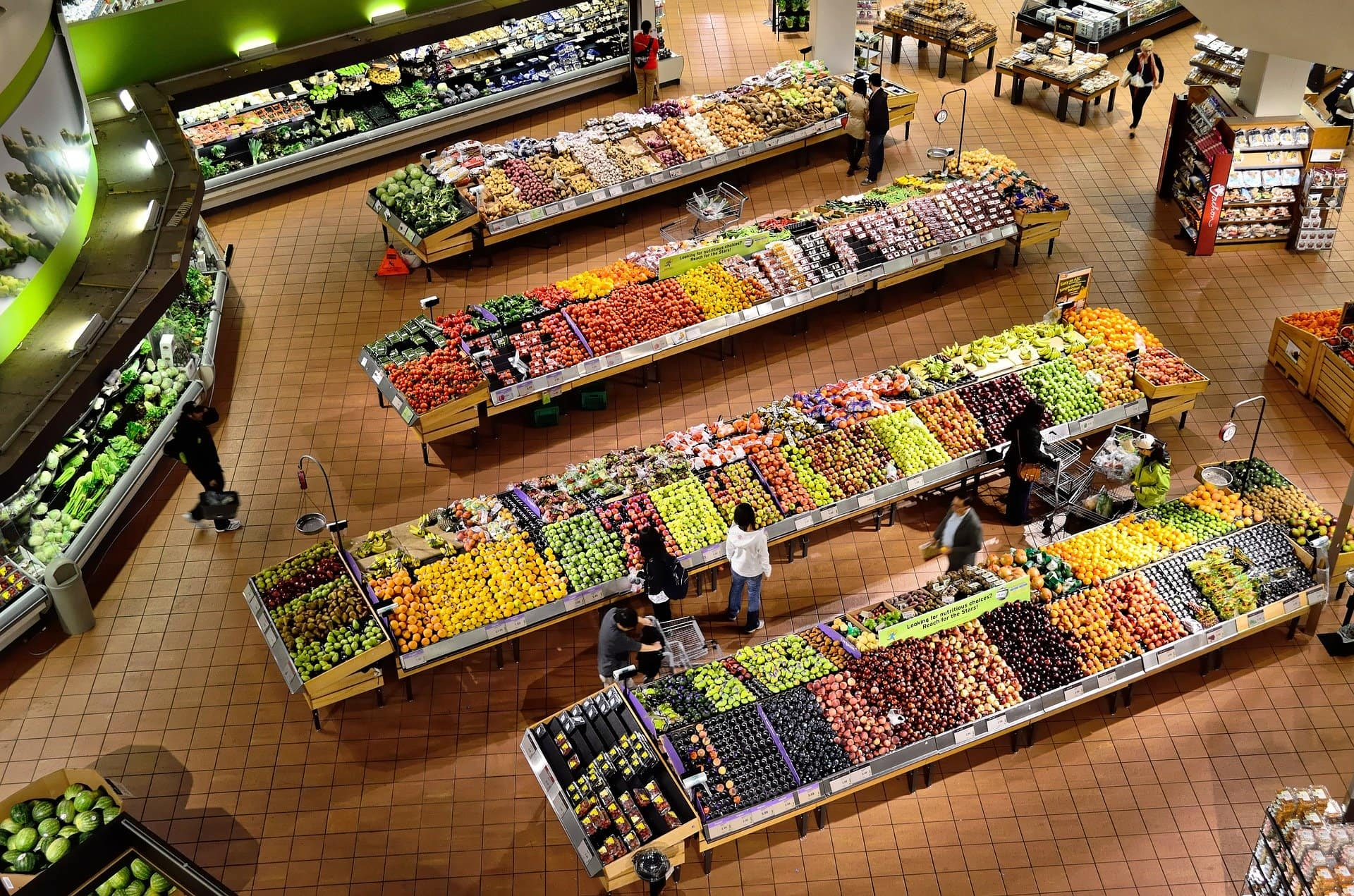 supermarket view from above